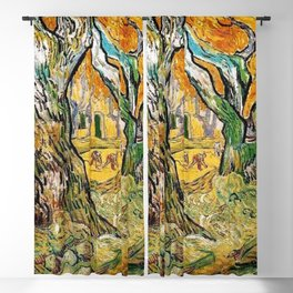 Road Works at Saint-Remy by Vincent van Gogh Blackout Curtain