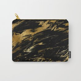 Luxury and sparkle gold glitter and black marble Carry-All Pouch