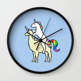 Unicorn Riding Llamacorn Wall Clock