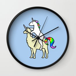 Unicorn Riding Llamacorn Wall Clock