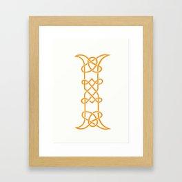 Celtic Initial I Framed Art Print