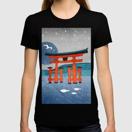 Japanese Shinto at Evening T-shirt