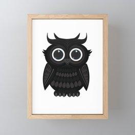 Black Owl Framed Mini Art Print