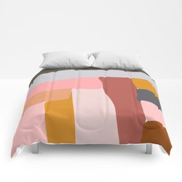 Modern Abstract in Earthy Colors Comforters