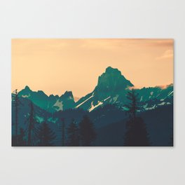 Cascade Mountains Sunset Canvas Print