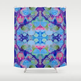 Staycation (blue) Shower Curtain
