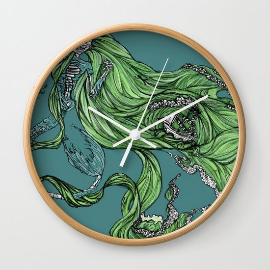 Death of a Siren Wall Clock