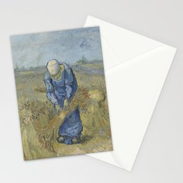 Peasant Woman Binding Sheaves (after Millet) Stationery Cards