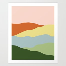 Ridge Meadow Art Print
