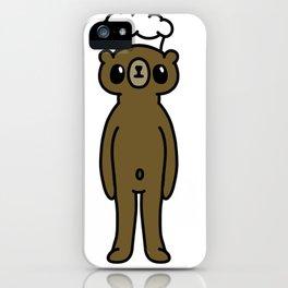 Cute bear cook iPhone Case