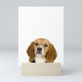 Don't Bother Me While I'm Playing With My Beagle Mini Art Print