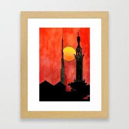UAE Sunset Framed Art Print