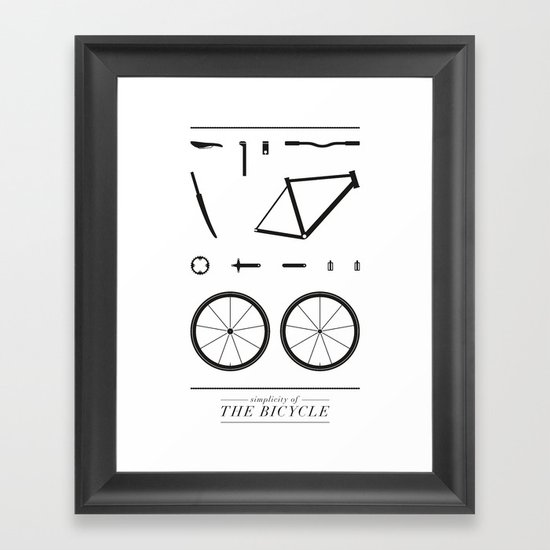 Simplicity of the bicycle Framed Art Print