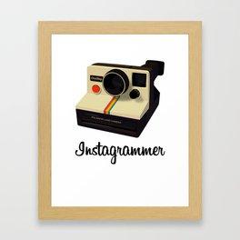 instagrammer Framed Art Print