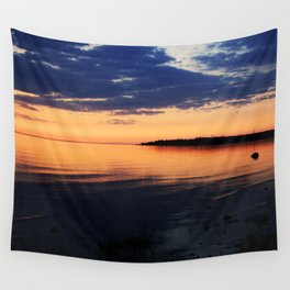 Sunset by the Lake Wall Tapestry