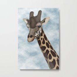 Giraffe Fun Metal Print