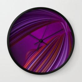 violet lines Wall Clock
