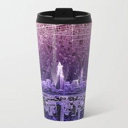 cleveland city skyline Travel Mug