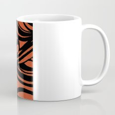 Orange & Black Waves Mug