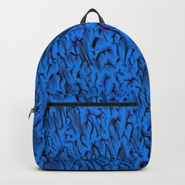 Gaudy abstract, funky blue Backpack