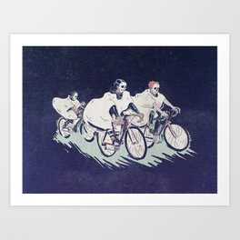 Ghost Race Art Print