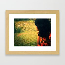 Lookin' Back Framed Art Print