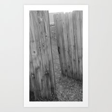 Behind Door 1 Art Print