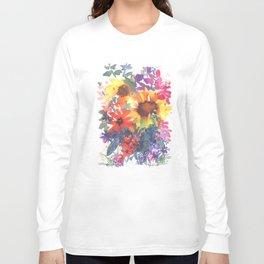Rainy Day Sunflowers Long Sleeve T-shirt