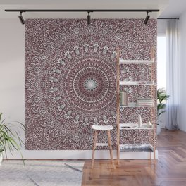 Light Pink Floral Mandala Wall Mural
