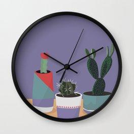 cacti colorblock Wall Clock