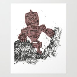 robot showbot Art Print