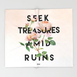 Seek Treasure Throw Blanket