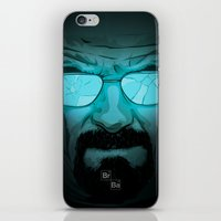 walter white iPhone & iPod Skins featuring Walter White by Guillaume Vasseur