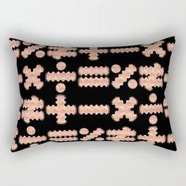 Seamless Colorful Abstract Mathematical Symbols Pattern III Rectangular Pillow