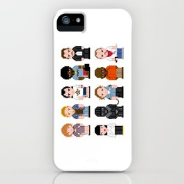 Pixel Pulp Fiction Characters iPhone Case
