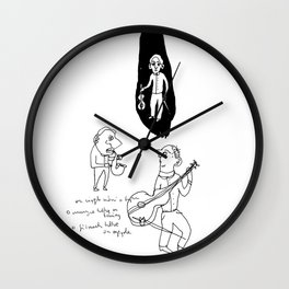 musicians before the concert Wall Clock