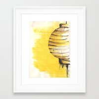 lantern Framed Art Prints featuring Lantern by Emma Stein