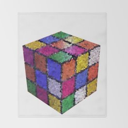 The color cube Throw Blanket
