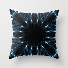 Kaleidoscope in Blue Throw Pillow