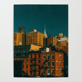 New York City Apartments (Color) Poster