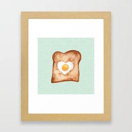 Heart In One Egg Toast Breakfast Food Love Framed Art Print