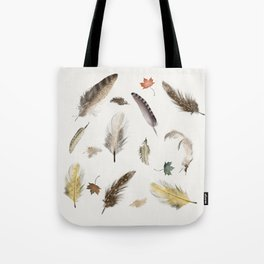 inner nature (feathers and leaves Tote Bag