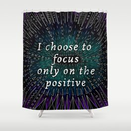 Positive affirmation, mindfulness quote, hand-drawn lettering, yoga art, yoga drawing, motivational  Shower Curtain