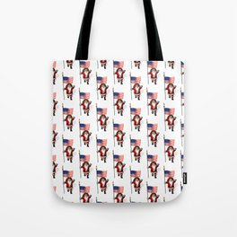 Santa Claus With Star-Spangled Banner Tote Bag