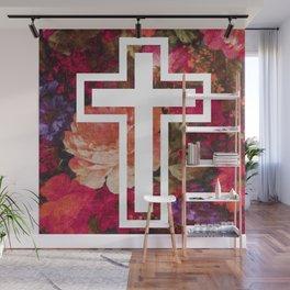 Flower Cross Wall Mural