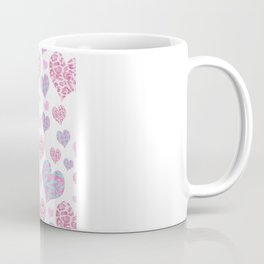Be My Valentine's | Cute Love Hearts Pattern Pink Teal Glitter Leopard Zebra Stripes Coffee Mug