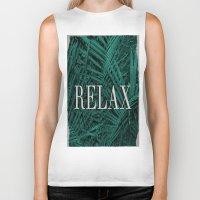 relax Biker Tanks featuring RELAX by sincerelykarissa