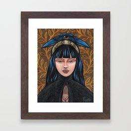 Katikakiw - Raven Framed Art Print