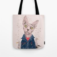 gangster Tote Bags featuring The Gangster by dogooder