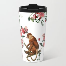 Monkey World: Nosy - White Travel Mug